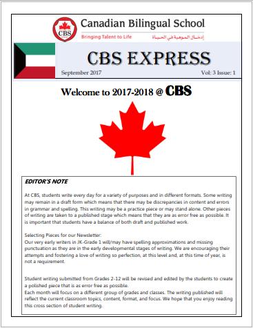 CBS Newspaper - Sept '17 edition